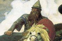 Фрагмент картины «Богатыри», изображающий Добрыню. Виктор Васнецов.