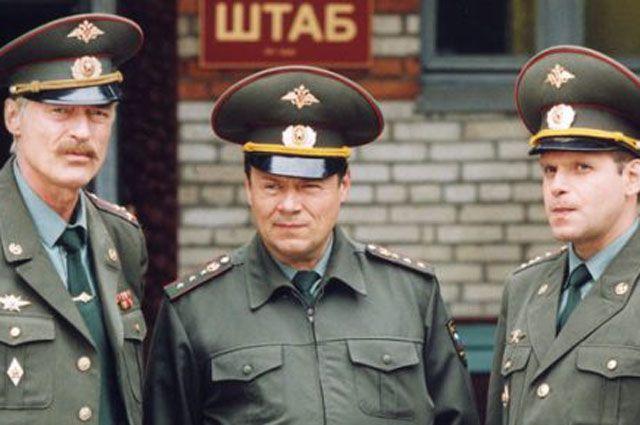 Борис Щербаков, Алексей Маклаков и Алексей Ошурков в сериале «Солдаты»