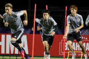 Тренировка сборной Японии на Кубке Америки.