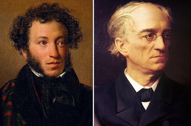 Александр Пушкин и Фёдор Тютчев.
