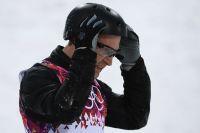 Алексей Гришин в квалификации лыжной акробатики на соревнованиях по фристайлу среди мужчин на XXII зимних Олимпийских играх в Сочи.