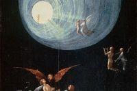 На картине Иеронима Босха «Восхождение в эмпирей», написанной в 1505 г., запечатлён сюжет, который видели люди в момент клинической смерти, – полёт вверх в туннель с неким светящимся существом. Фрагмент.