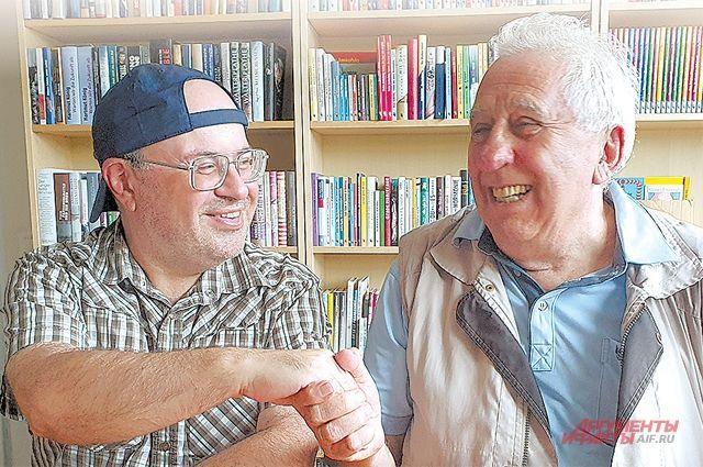 Эгон Кренц и журналист «АиФ» Георгий Зотов во время интервью.
