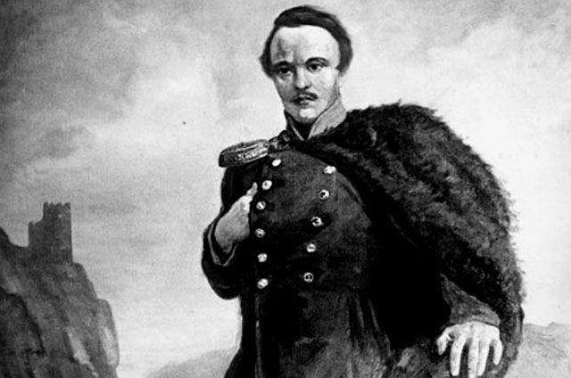 Портрет Лермонтова работы художника Ираклия Тоидзе.