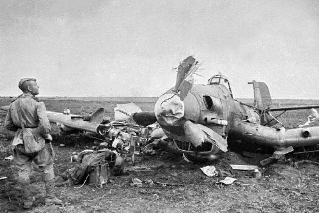 Сбитый Ю-87.