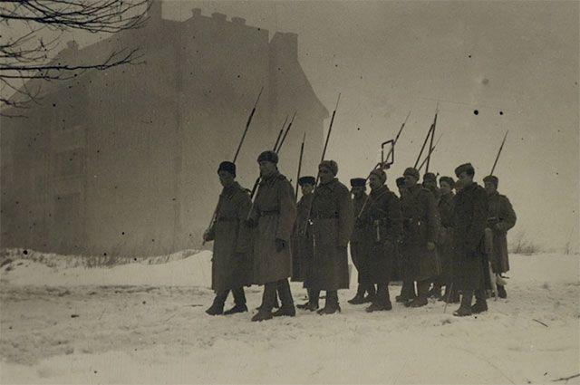 Советские войска в Будапеште.