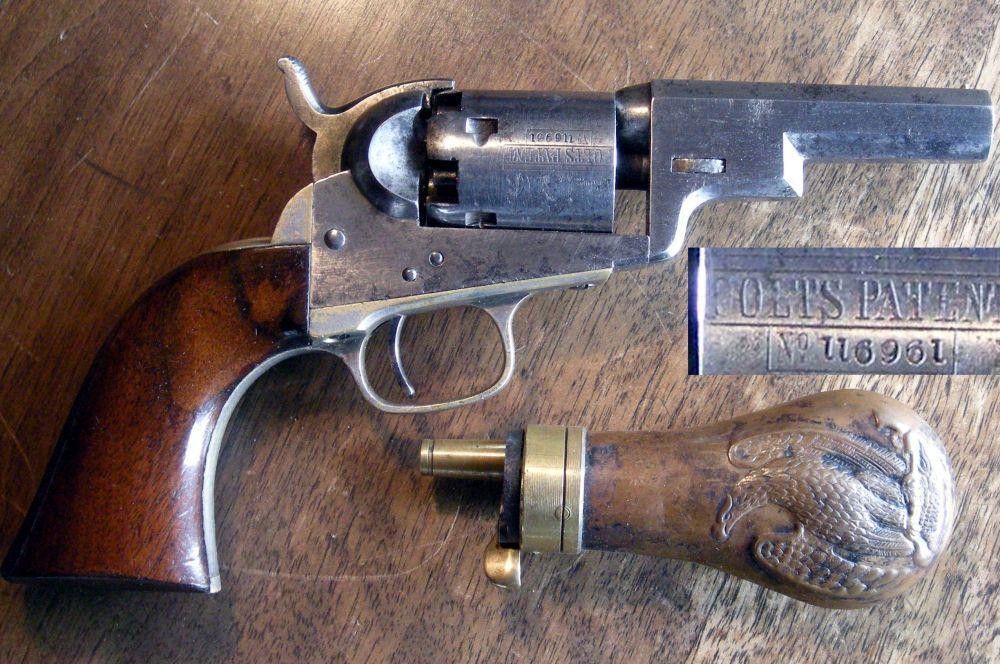 К концу 40-х годов в США вырос спрос на оружие небольшого размера, подходящее для скрытного ношения. В ответ на это Кольт представил в 1849 году модель Wells Fargo. За счёт отсутствия рычага взведения он незаметно прятался в кобуре или кармане. Хотя Wells Fargo не обладал высокой огневой мощью, во времена Золотой лихорадки он был очень эффективен в руках полицейских и детективов в ближнем бою.