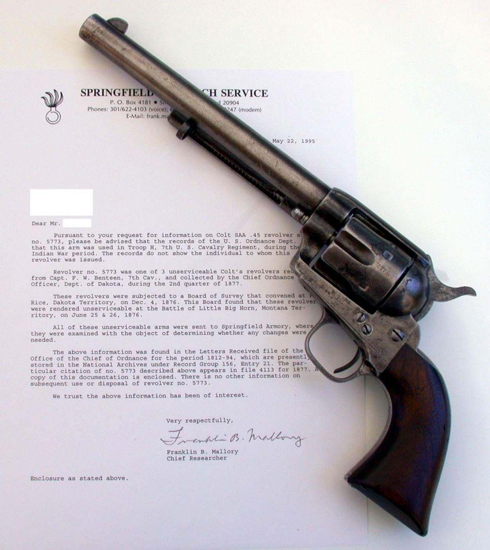 В 1873 году компания Colt выпустила свой самый знаменитый револьвер, легенду «Дикого Запада» - Colt Single Action Army, также известный как Peacemaker («Миротворец» - англ.), поскольку считалось, что «там, где он использовался, быстро возникал мир». Выпускался под патроны более чем 30 калибров с различной длиной ствола. В неизменном виде производится до сих пор.
