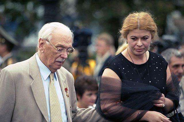 Сергей Михалков c супругой на ММКФ-1999.
