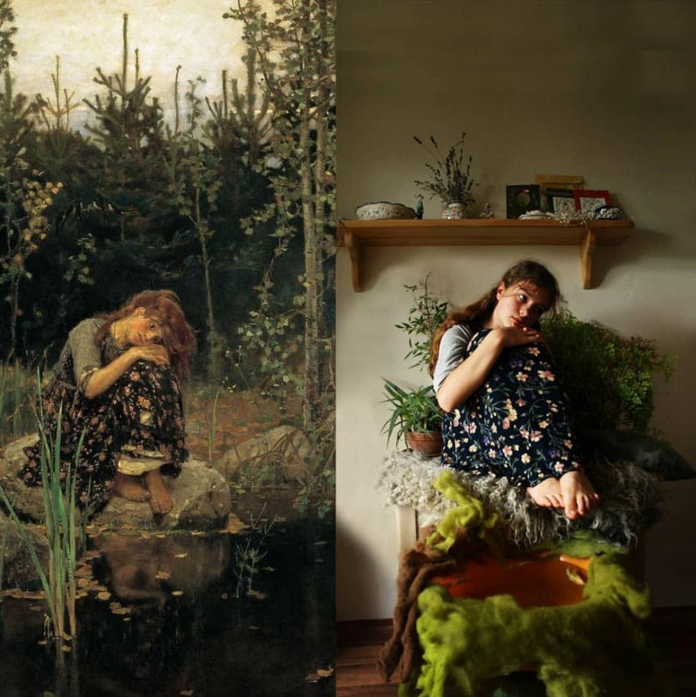 Картина В. Васнецова «Алёнушка».