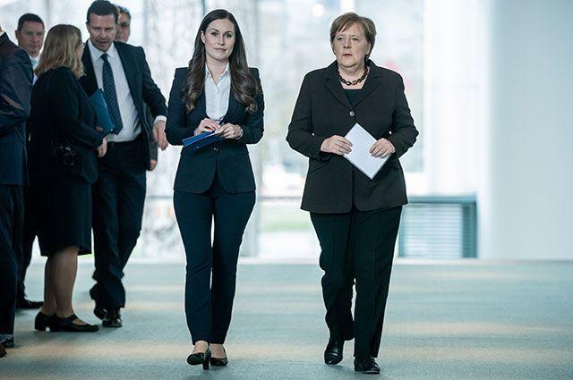Санна Марин и Ангела Меркель.