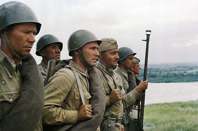 Съёмки фильма «Они сражались за Родину», 1975 г.