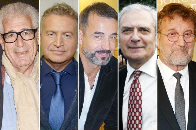 Лев Новоженов, Леонид Агутин, Дмитрий Певцов, Александр Лазарев, Леонид Ярмольник.