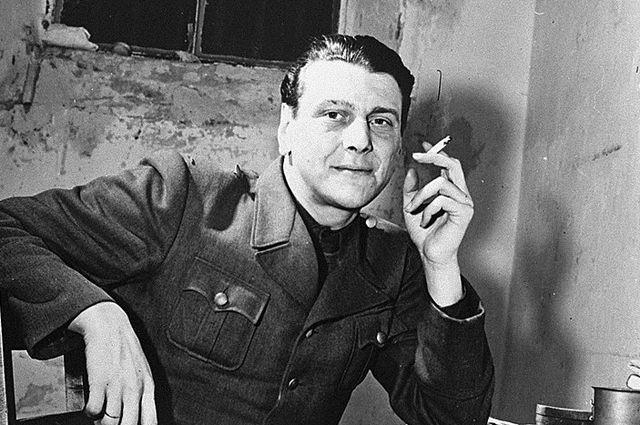 Глава «Организации бывших членов СС» Отто Скорцени в Нюрнбергской тюрьме (ноябрь 1945 г.)