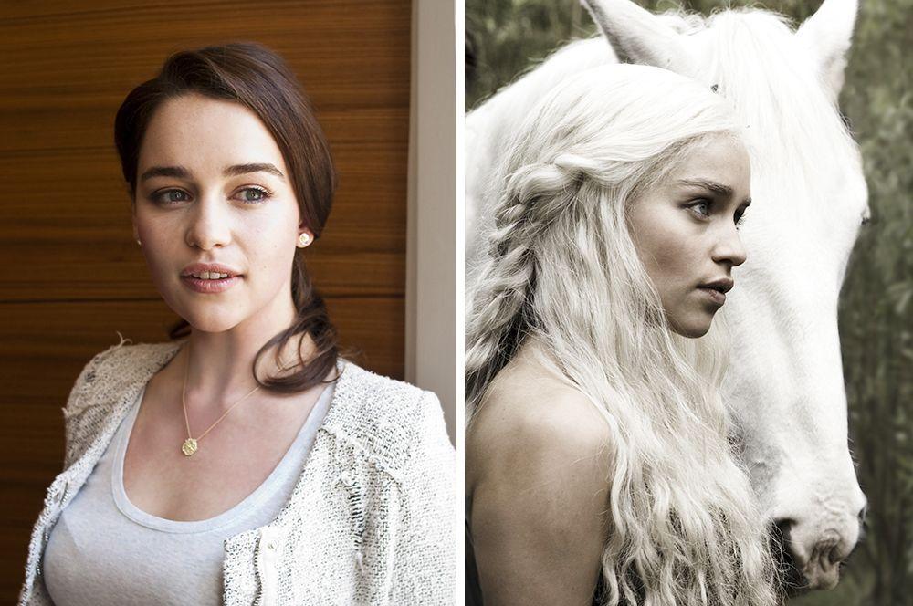 После «Игры Престолов» сложно было представить «мать драконов» Эмилию Кларк с темными волосами, хотя на самом деле это так.