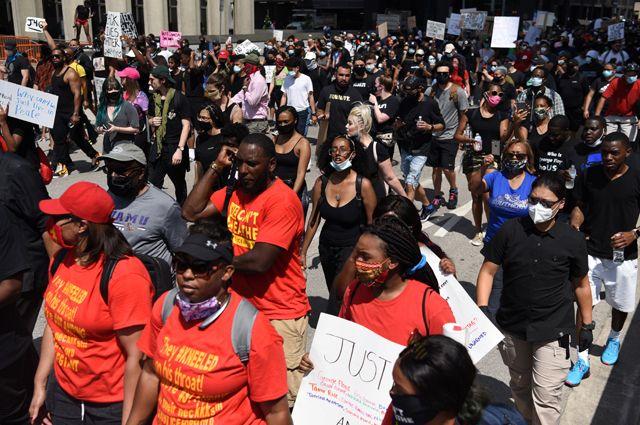 Протесты в Хьюстоне, США.