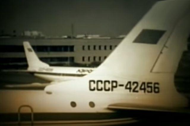 Ту-124 в аэропорту «Смольное».