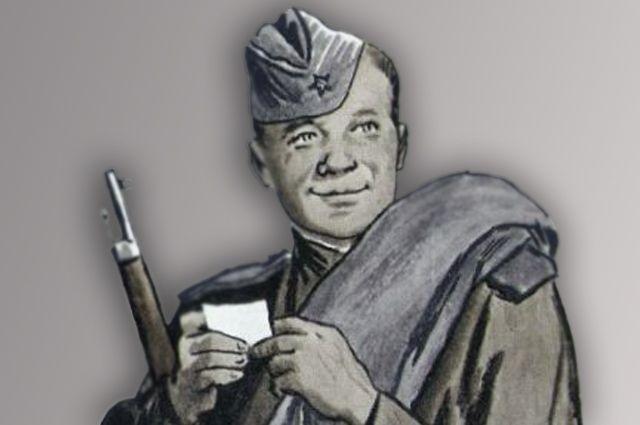 Иллюстрация Ореста Верейского к поэме «Василий Тёркин».
