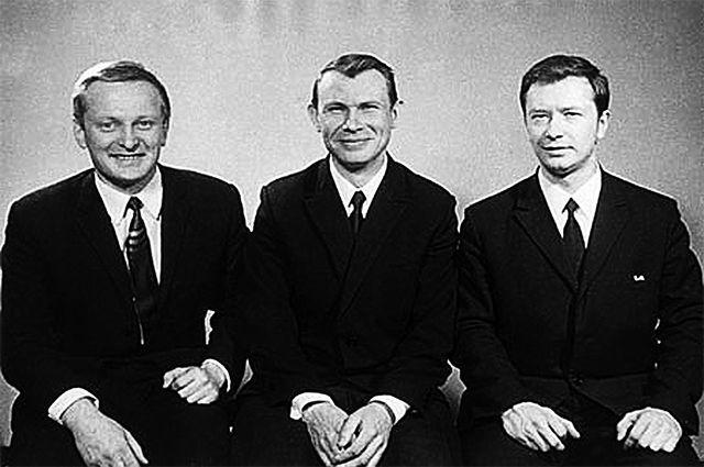 Экипаж «звездолёта»: Герман Мановцев, Борис Улыбышев и Андрей Божко.