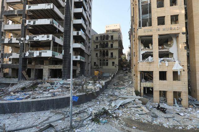 После взрыва в Бейруте.