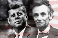 Два президента Америки - Авраам Линкольн и Джон Ф. Кеннеди.