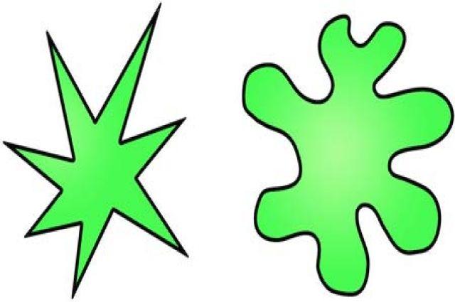 Около 95% людей, когда видят две фигуры - округлую и резко очерченную, - «ощущают», какую хочется назвать «буба», а какую - «кики».