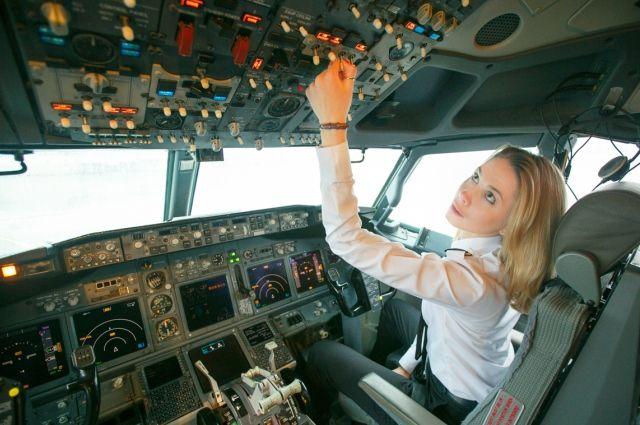 Первая девушка-пилот авиакомпании «Белавиа» Светлана Еременко, 2016 год.