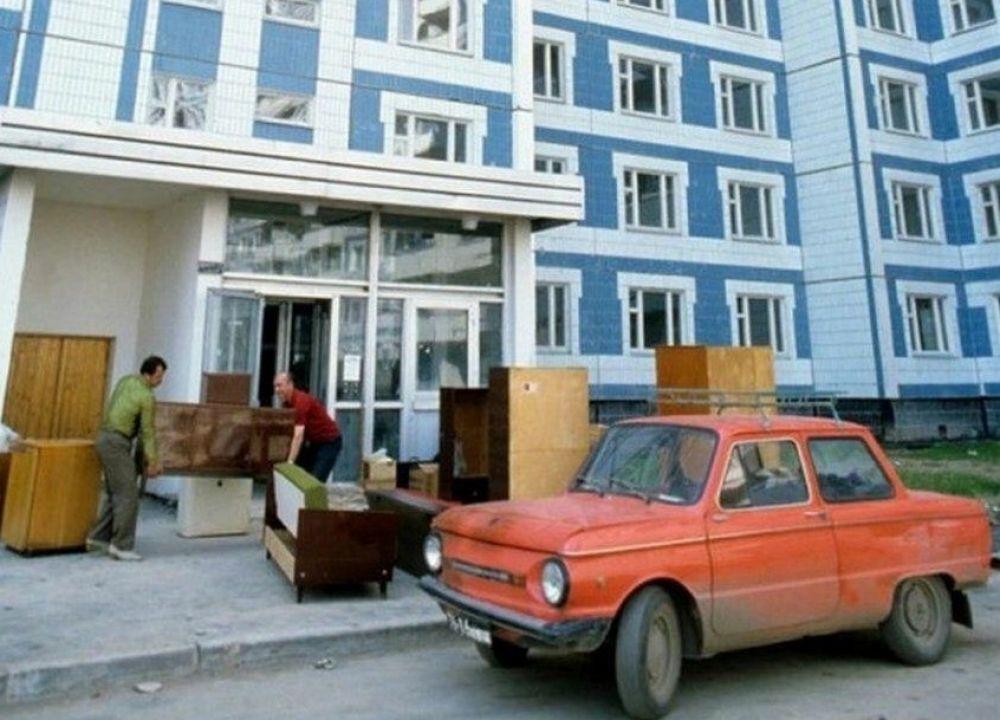Переезд в новостройку, Москва, 1980-е.