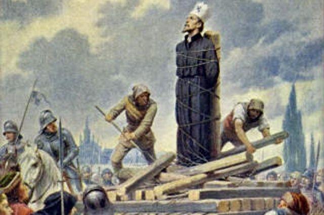 Ян Гус был лидером национального движения. C ним долго пытались расправиться. В конце концов, обвинив в ереси, вынесли смертный приговор.