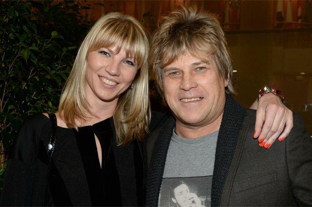 Алексей Глызин с женой Санией Бабий.