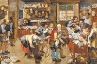 «Уплата десятины». Картина Питера Брейгеля Младшего, 1622 г. Десятую часть своего дохода население в средневековой Европе платило в пользу папы римского.