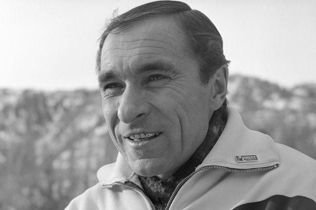 Советский конькобежец, олимпийский чемпион Евгений Гришин, 1970 г.