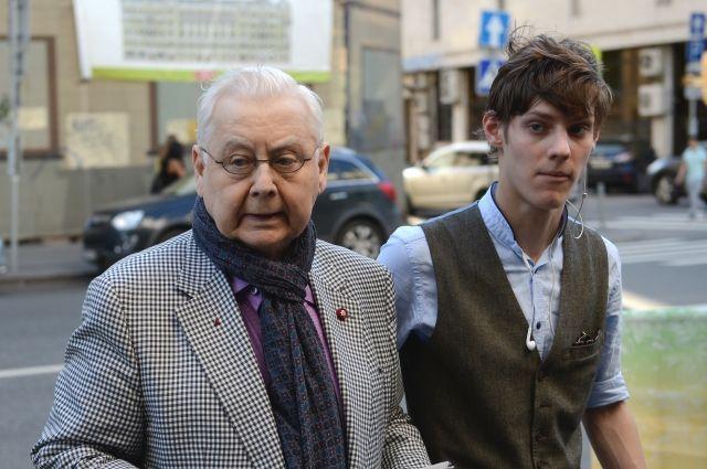 Олег Табаков с внуком Никитой, 2014 г.