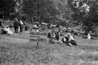 Несмотря на штрафы, советские граждане любили удобно расположиться на травке в парках. 20-30-е годы.