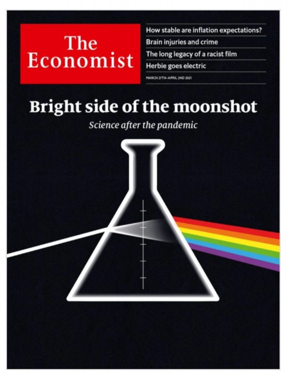 The Economist из Британии за апрель. Пандемия - большая общечеловеческая проблема? Безусловно. Но она же дала мощнейший толчок развитию технологий.