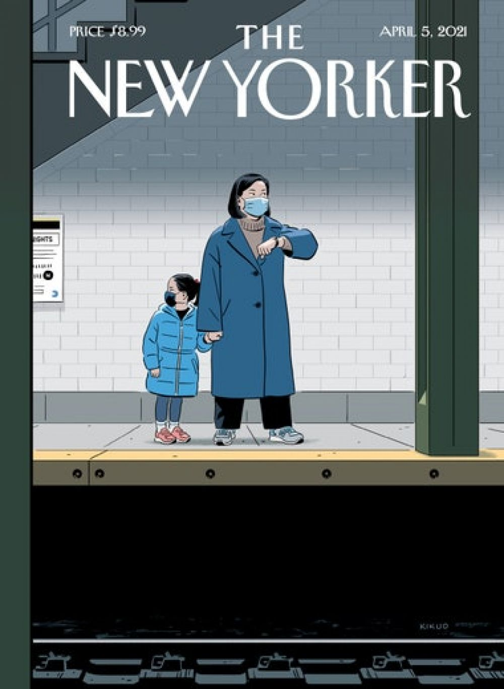 The New Yorker за апрель. Без маски – никуда.