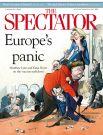 Тот же The Spectator за март вышел с обложкой «Европейская паника». Иллюстрация положения дел с вакцинацией в ЕС.