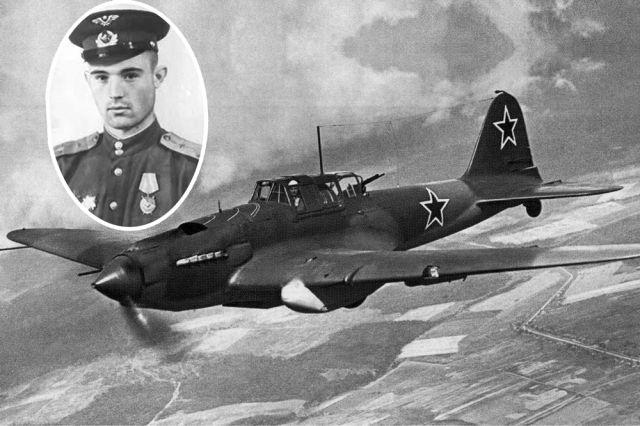 Летал Сергей Долинский на самолете-штурмовике Ил-2.