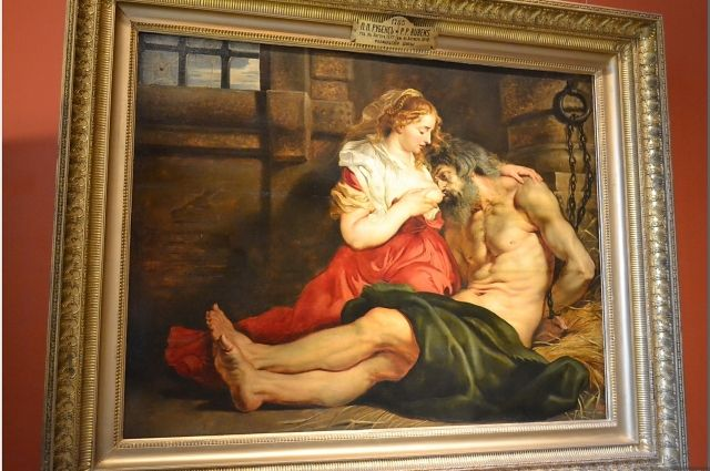 «Отцелюбие римлянки». Рубенс, 1612 год.