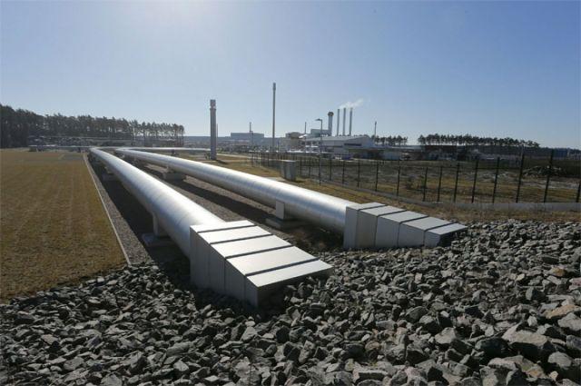 Наземная часть газопровода «Северный поток» в Германии.