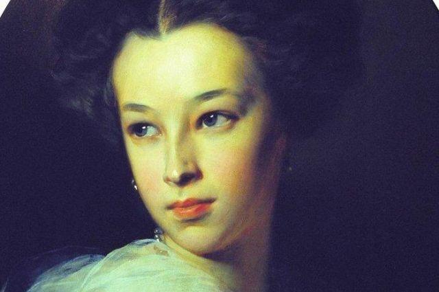 На портрете И. Макарова (1849 г.) будущей покорительнице сердец всего 13 лет.