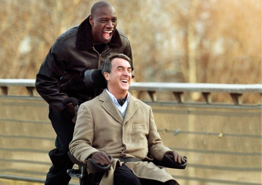 «1+1» (2011) — бывший заключённый возвращает вкус к жизни чопорному аристократу, прикованному к инвалидному креслу. Фильм-обладатель премий «Сезар», «Жорж» и «Гойя»